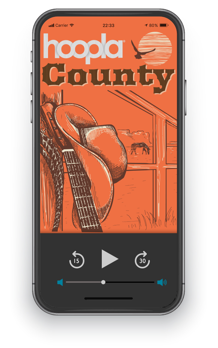 Exlpore country music on hoopla
